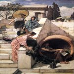 John William Waterhouse (6 April 1849  10 February 1917)  Diogenes  Oil on canvas, 1882  208 x 135 cm  Art Gallery of New South Wales, Sydney, New South Wales, Australia